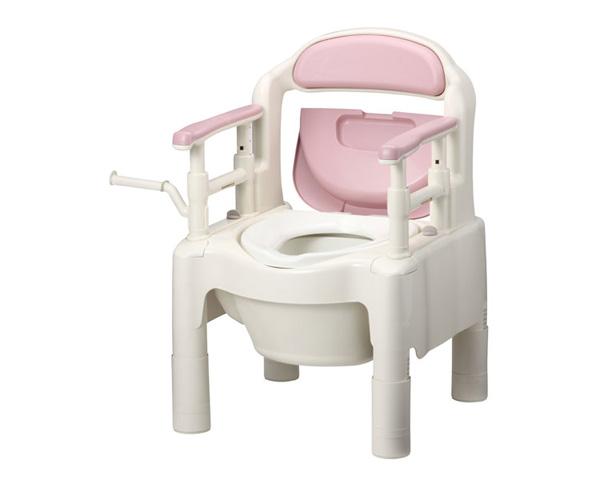 安寿 ポータブルトイレ ちびくまくん FX-CP 標準タイプ 533-330 さくら アロン化成送料無料 介護用品 樹脂製ポータブルトイレ 小型 コンパクト 福祉用具 高齢者