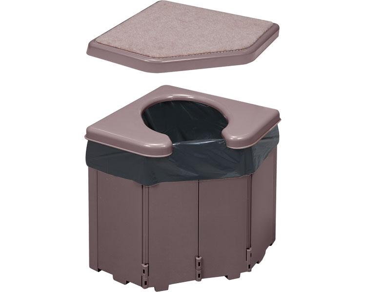 ポータブルコーナートイレ R-46 サンコー腰掛け 簡易トイレ ポータブルトイレ 高齢者 介護 防災グッズ 災害対策 便利グッズ