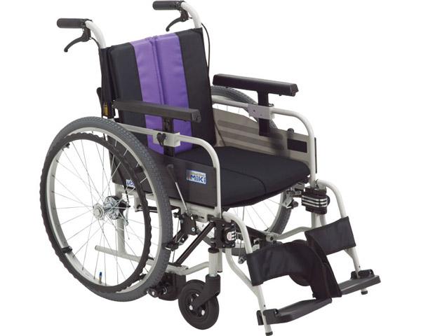 車椅子 とまっティシリーズ アルミ自走車いす MBY-41B SW ミキアルミ製 自走用 自走式 車イス 折りたたみ 介護用品 福祉用具