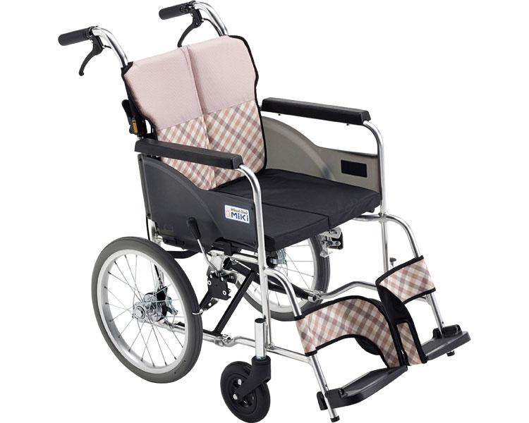 車椅子 アルミ介助車いす MSR-2 ミキアルミ製 介助用 介助式 車イス コンパクト 軽量 座位安定 介護用品 福祉用具