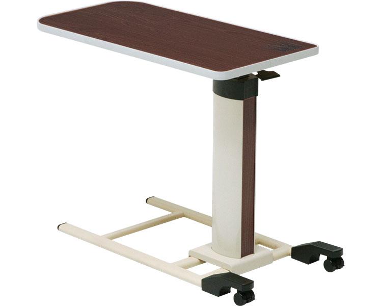 ベッドサイドテーブル(ガス圧式) KXT-070 ダークブラウン コイズミファニテック 【smtb-kd】【介護用品】【ベッド用 サイドテーブル ベッドテーブル】