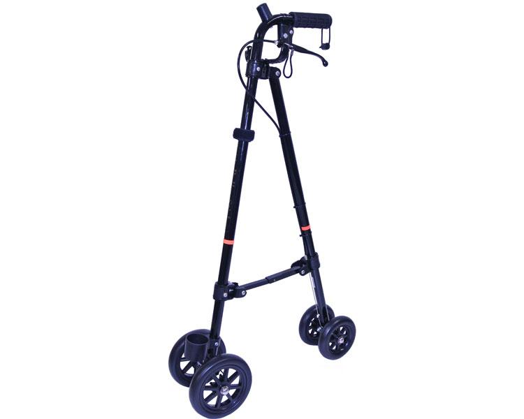 杖 ステッキ ハンドレールステッキ WB3803 WB3804 フジホーム介護 便利グッズ 歩行 サポート 杖 車輪付き 手荷物 買い物 ショッピング 介護用品