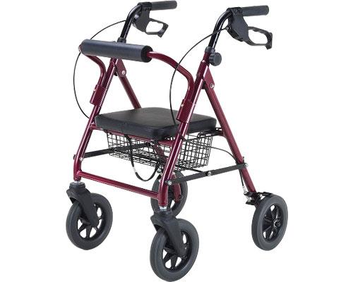 歩行器 歩行丸 マキテック介護用品 歩行車 歩行補助 手押し車 老人 高齢者 シニア 折りたたみ 歩行器