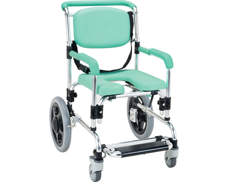 らくらく浴用キャリー(固定式) パーキングブレーキ付/YC-80GR マキテック 【smtb-kd】【介護用品】【シャワーチェア シャワーキャリー 入浴用車椅子】