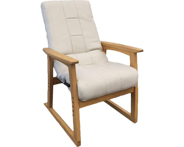 ▲円背椅子「やすらぎ2」 NOEC-リヨンIV アイボリー 明光ホームテック座椅子 肘掛け リクライニング 高齢者 介護用品