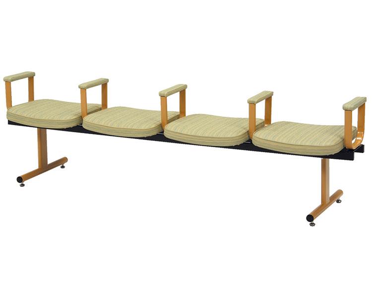 ロビーチェア 4人用背なし・肘付 ミトノ 【介護用品】