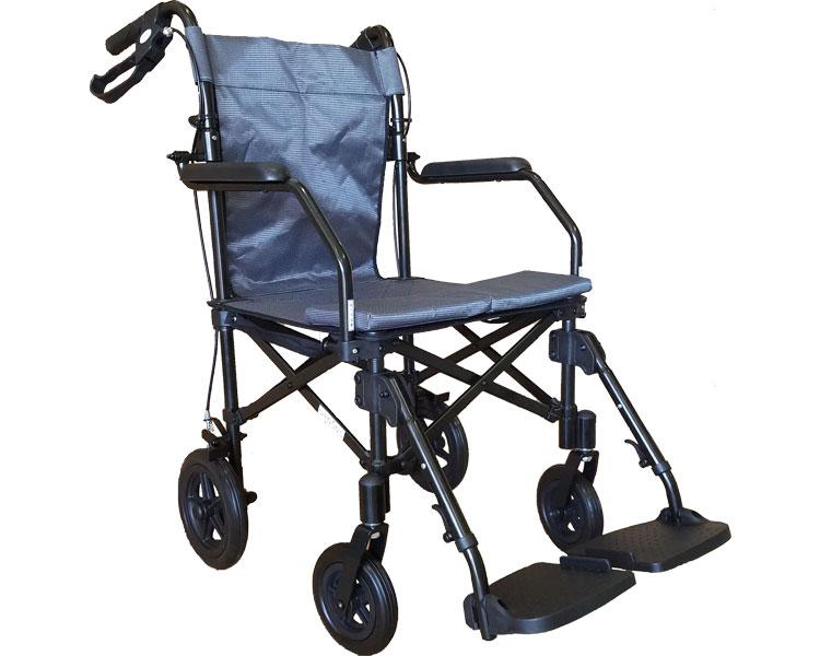 簡易車椅子 ジョイチェアー Y-024 携帯用バッグ付 チノンズ軽量 コンパクト 車いす 車イス キャリーバッグ 旅行 移動 介護用品