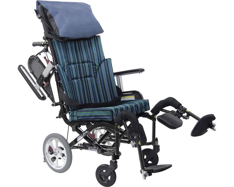 車椅子 ぴったりフィット くるーん KPFK-12 No.102 ピーコックブルー カワムラサイクルリクライニング 車いす 車イス くるまいす コンパクト 高機能 折りたたみ 折り畳み 介護用品