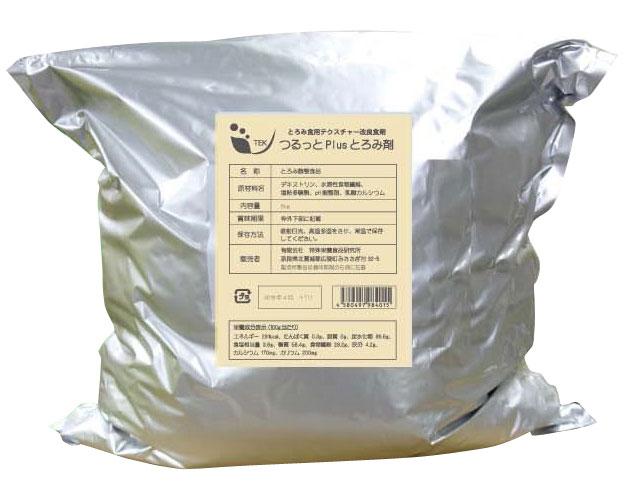 とろみ調整剤 つるっとplusトロミ剤 5kg オプティピュア・ジャパン介護食 トロミ とろみ剤 簡単 とろみ 高齢者 嚥下 施設 病院 大容量
