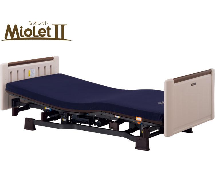 介護 ベッド ミオレット(ショート)背上げ1モーター ホワイティ P106-14AD 83cm幅 プラッツ 介護用品