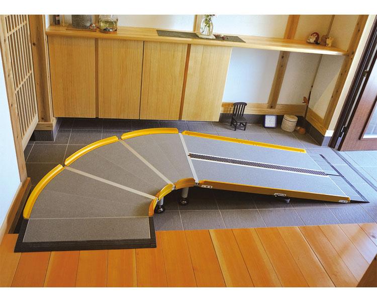 スロープ 段差 LスロープFK1000 微笑の杜若 643-212 長さ125cm シコク段さ解消 段差解消 住宅改修 スロープ 介護用品