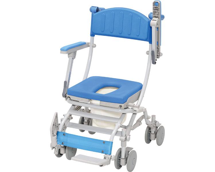 シャワーキャリー シャトレチェアC 4輪自在タイプ O型シート バケツ付 STR6203 ウチヱ介護 入浴用 車椅子 入浴キャリー 高齢者 福祉用具 介護用品