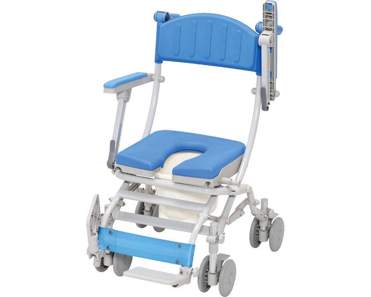 シャワーキャリー シャトレチェアC 4輪自在タイプ U型シート バケツ付 STR6204 ウチヱシャワーキャリー 入浴用 車椅子 車いす 介護用品