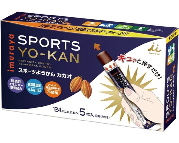 Sports yokan cacao 38 g *5 Motoiri *20 set Imuraya functionality Japanese sweet energy supply sports outdoor mountain climbing care meal supplementation care elderly person unit wraps it and buys it at a time