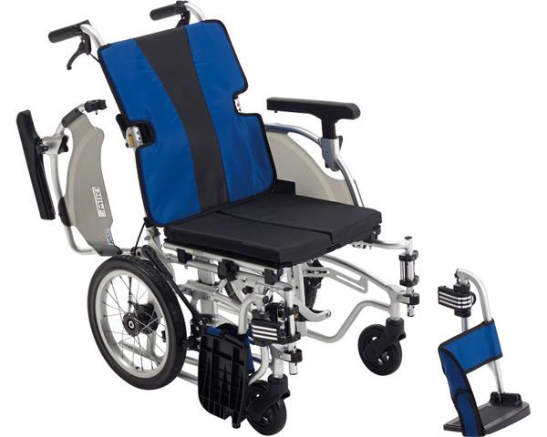 モジュール車いす アルミ介助車いす MEF-14 低座面仕様 ミキ車椅子 介助用 車イス 介助式 高齢者 介護用品