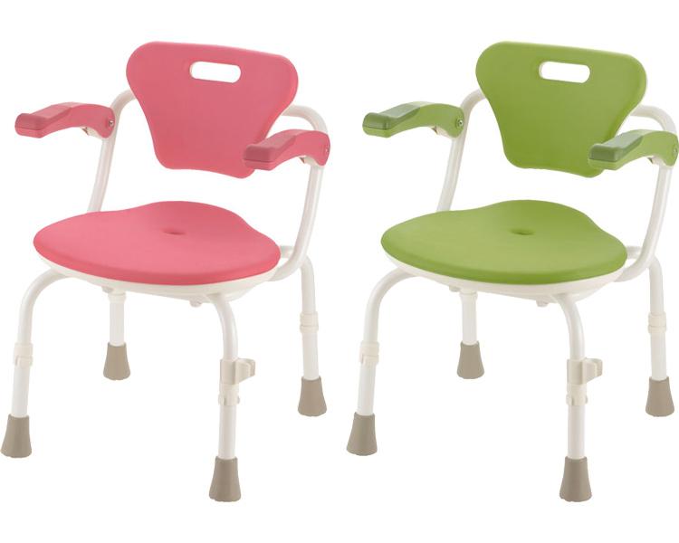 やわらかシャワーチェアクレオ(防カビプラス) 肘掛付460 リッチェルシャワーチェア お風呂 椅子 介護 椅子 介護用品 シャワーいす シャワー椅子 richell 送料無料