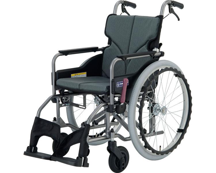 車椅子 モダンシリーズ Aスタイル 標準タイプ(背折れ) KMD-A22-40(42)-M 中床タイプ カワムラサイクル自走式 車いす 車イス ドラム式 高齢者 介護用品 福祉用具