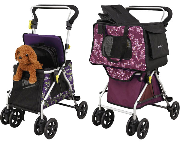 ペットカートファム MP-1 WB4004 WB4005 フジホームペット お散歩 カート 手押し車 ショッピングカート ペットバッグ シルバーカート ペット関連 高齢者