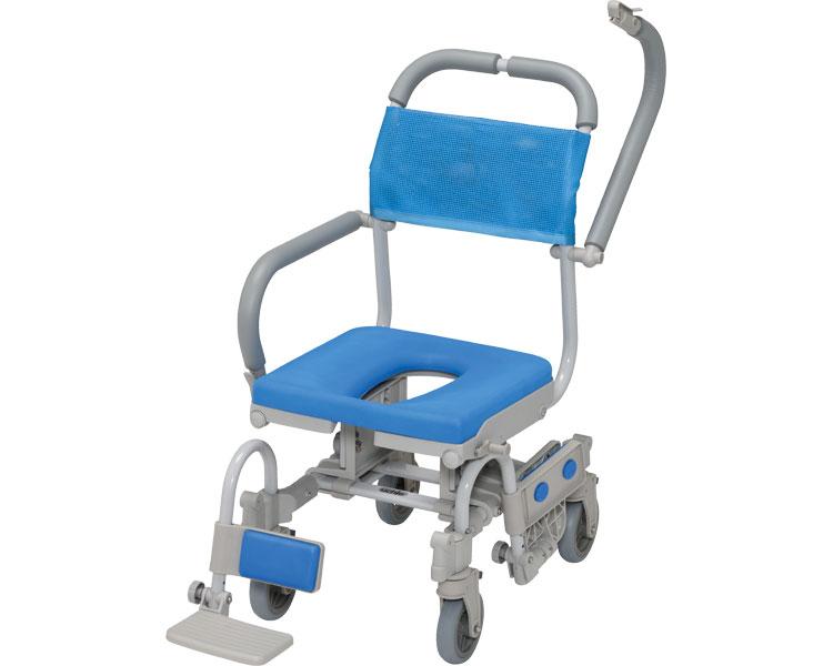 シャワーラク4輪自在V O型シート SWR-150 ウチヱ介護用品 シャワーキャリー シャワー用車椅子 車いす型シャワーチェア 入浴補助