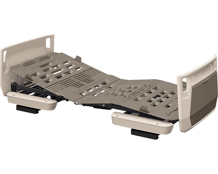 楽匠プラス 多機能 2モーション H脚タイプ スマートハンドル付 83cm幅 オプション受:モスグリーン ボード:グレージュ KQ-A5113S パラマウントベッド介護用品 介護ベッド 電動ベッド 在宅介護 高齢者 ベッド