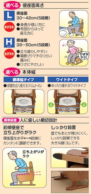 家具調トイレセレクトシリーズノーマルタイプH/533-364ソフト・快適脱臭【アロン化成】