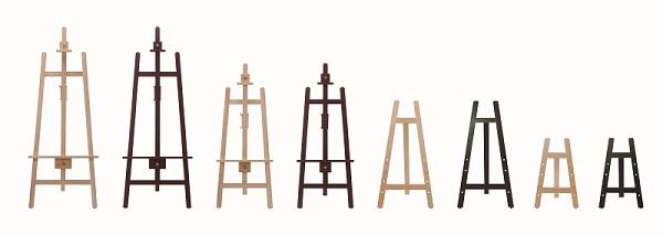 ディスプレイ 展示 装飾 看板等に最適な木製イーゼルです 高さ調節が出来ます 豪華な B2~A0に対応 ベストサイズB1 イーゼル 看板 H1500mm EA-H150 木製 日本正規代理店品 宣伝 POP メニュー