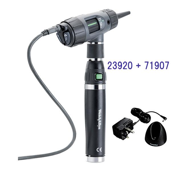 デジタルマクロビュー耳鏡リチウムイオン充電式ハンドル付