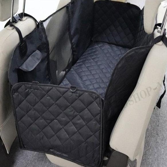 Panni ペットドライブシート 可視メッシュ窓付き 車用ペットシートカバー 後部座席用 防水 滑り止め 折り畳み 清潔簡単 車 シートカバー