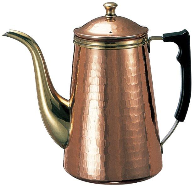 カリタ・銅製コーヒーポット1.5L蝶番付タイプ