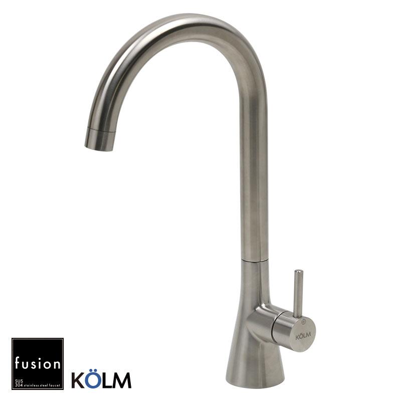 【fusion水栓金具】SSK6013KM コルム ステンレス・シングルレバー・キッチン混合栓|キッチンや洗面ボウル用の蛇口
