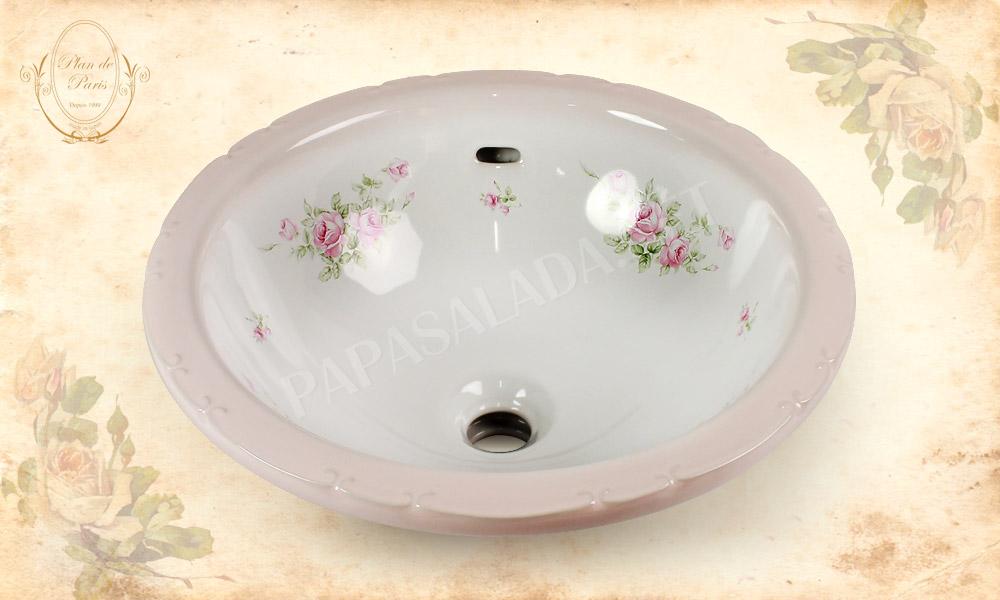 【プラン・ド・パリ】キャサリン ロゼ / ラウンドL(φ410mm)|フレンチな洗面ボール