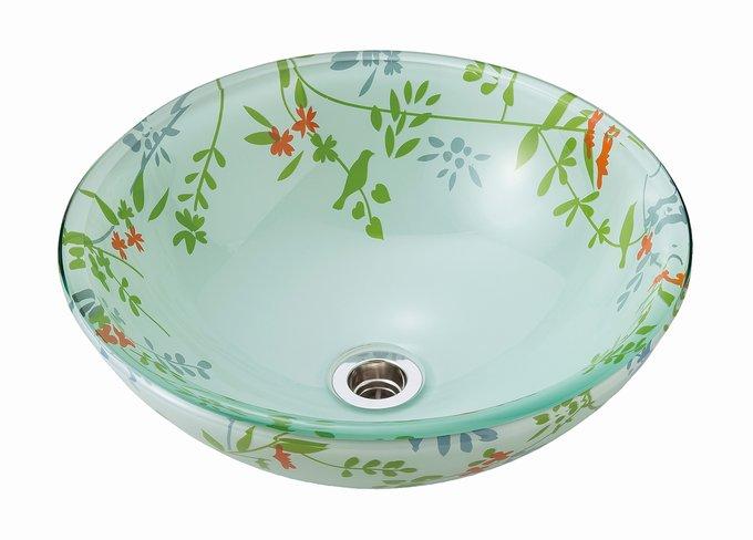 【AQUA】ボタニカル(Sサイズ)|ガラスの手洗器。ガラス製の洗面ボウル