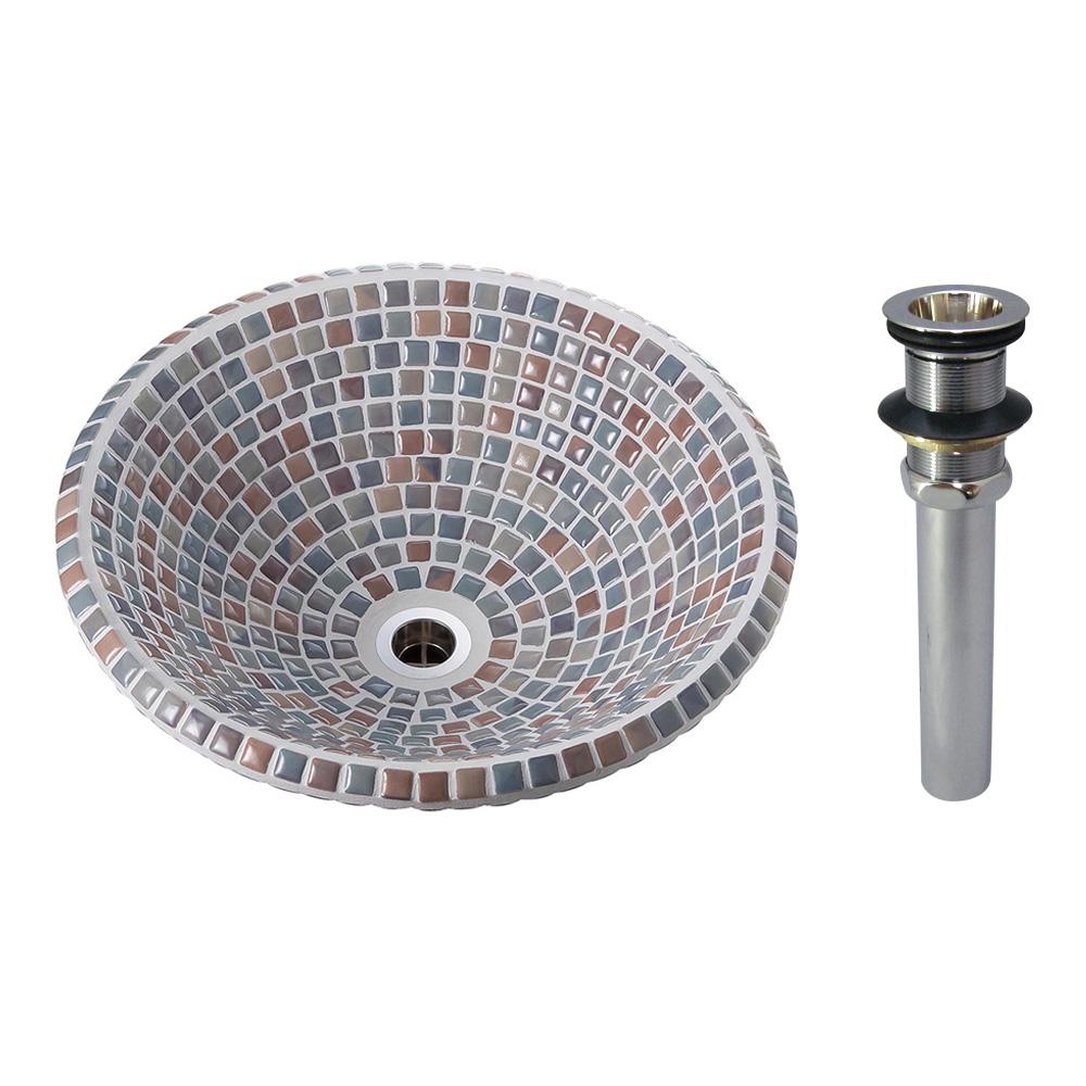 タイル製洗面ボウル オリジン アズーロ(Sサイズ・スタンダード)排水金具付