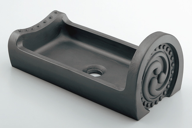 493-057 手洗鉢 淡路瓦 タイプA|淡路瓦の手洗器
