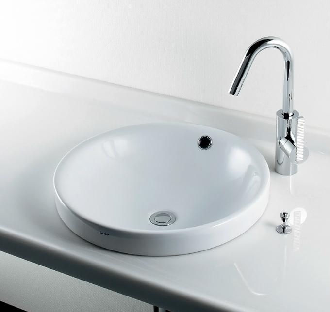 493-000 丸型半埋洗面器|デザイン洗面ボール