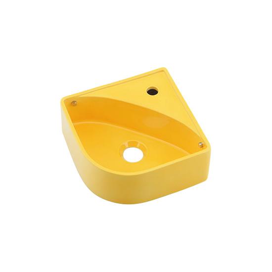 493-150-Y ポップなカラーの手洗い器 美濃焼 壁掛手洗器立水栓用(イエロー)