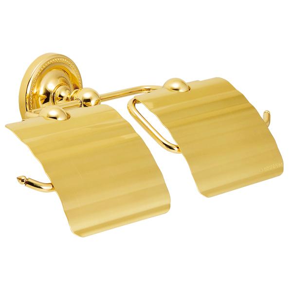 推奨 真鍮 ダブルペーパーホルダー トイレ ペーパーホルダー トイレットペーパーカバー 現品 2巻用 640789 おしゃれ 金色 真鍮製 ゴールド ブラス 紙巻器 アンティーク調 ヴィクトリアン トイレットペーパーホルダー 2連 ダブル