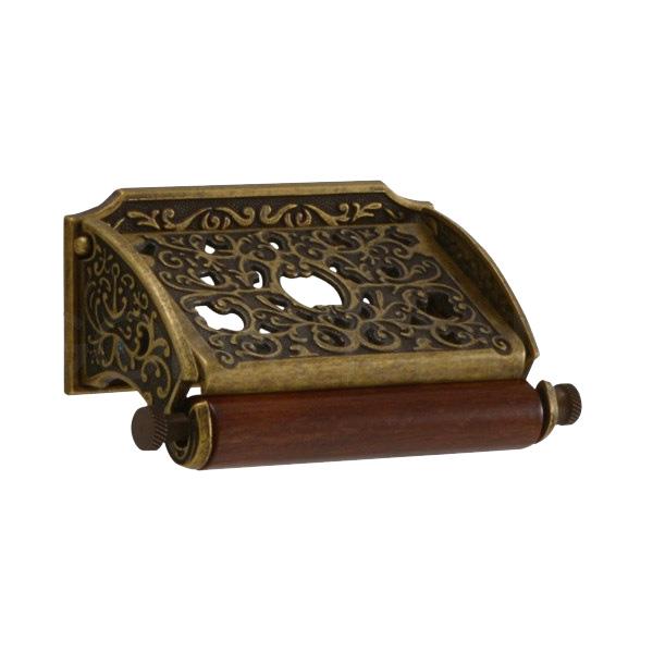 640312 真鍮製コンパクトペーパーホルダー(クラシック・アンティークブラス) アンティーク調ゴールド