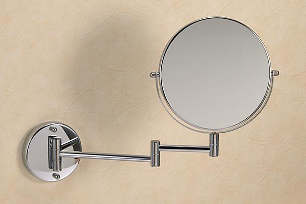 670610 真鍮製スイングミラー(スタンダード・クロム)|レトロ調シルバー色