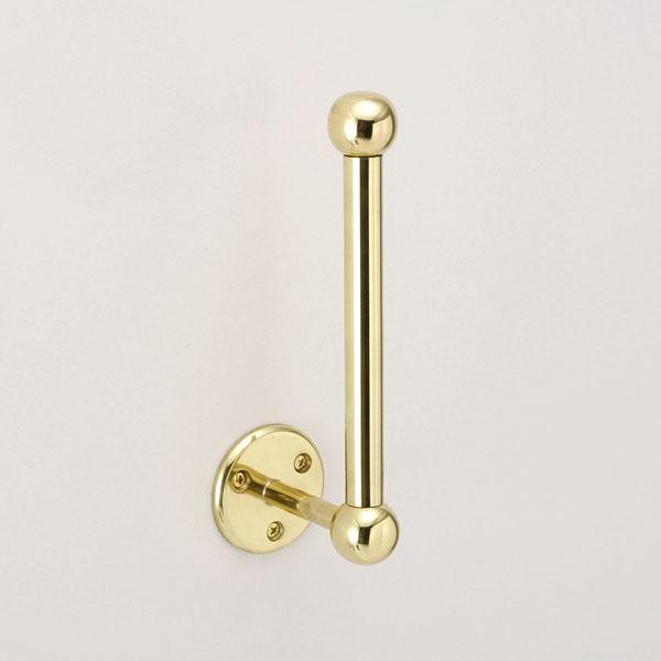 640072 金色のトイレットペーパーストッカー(スタンダード・ブラス) アンティーク調・真鍮製ゴールド色