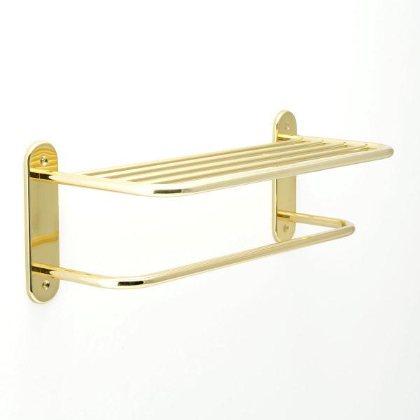 640200 おしゃれな真鍮製タオル掛け・タオルラック(スタンダード・ブラス)|金色・ゴールド色