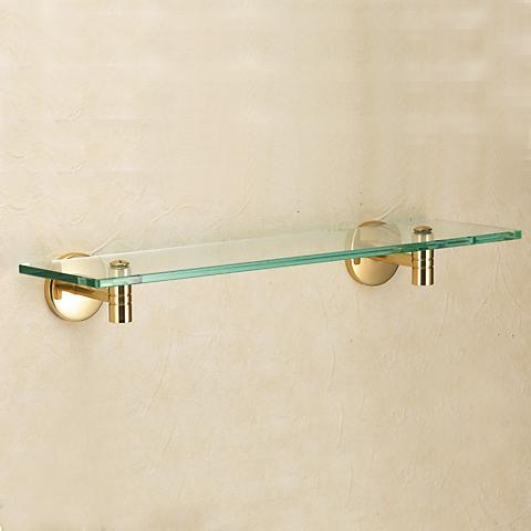 【キャンペーン期間中ポイント5倍】640650 おしゃれな真鍮製ガラスシェルフ(スタンダード・ブラス)|金色・ゴールド色