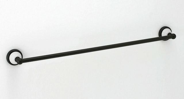 640604 おしゃれな真鍮製バスタオル掛け・タオルバー68(セラミック・ブラックコンビ)|モダン調