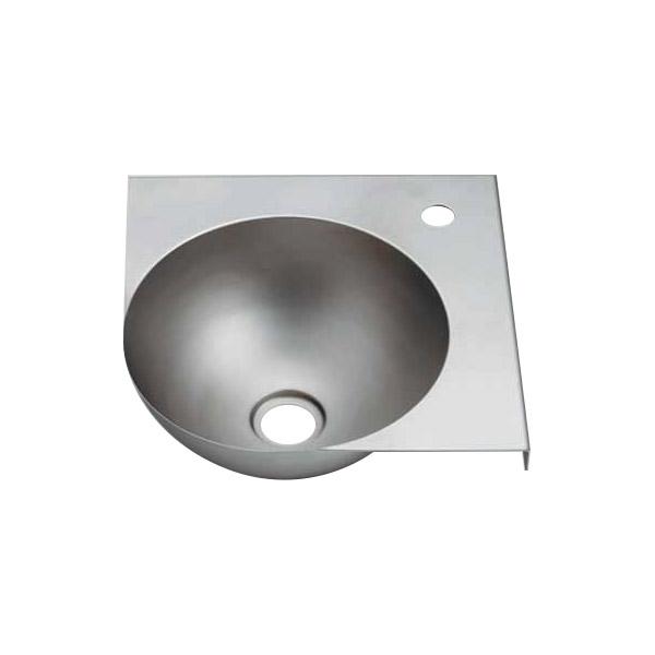 ステンレスボウル一体型コーナーカウンター(ブレスト仕上げ) トイレなどの省スペースに合う小型手洗い器