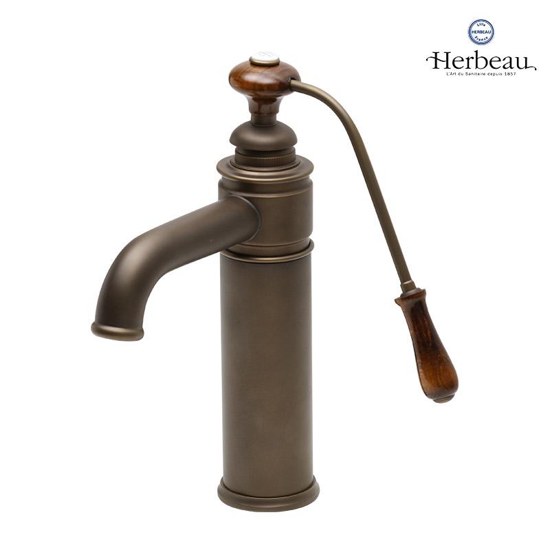 【Herbeau/エルボ】4103 Estelle(エステル/オールドブラス)シングルレバー混合栓 おしゃれ 蛇口 キッチン 洗面所