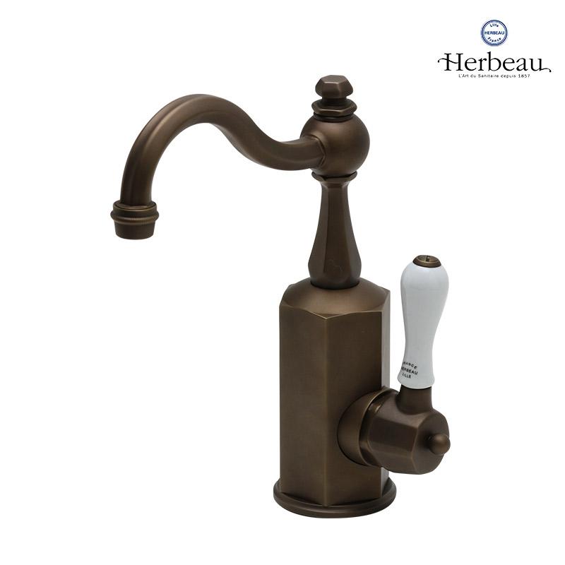 【Herbeau/エルボ】4130 Monarque(モナーク/オールドブラス)シングルレバー混合栓 おしゃれ 蛇口 キッチン 洗面所