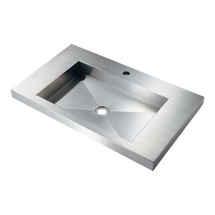 ステンレス角型洗面器(ワイド750) 493-163 (W750×D450×H86)洗面ボール 洗面ボウル おしゃれ シンプル
