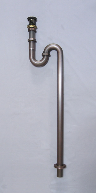 横穴付Sトラップ32(ブロンズ)|排水金具