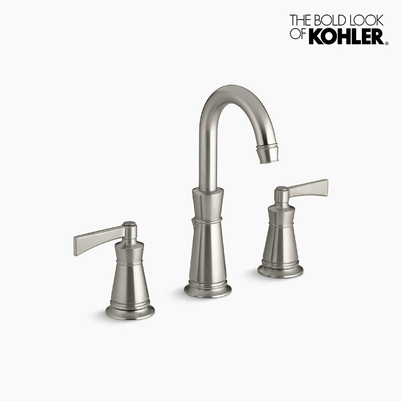新年度キャンペーン特価 混合栓 【KOHLER】 コーラー アーチャー 2ハンドル 洗面 水栓 (ニッケル)