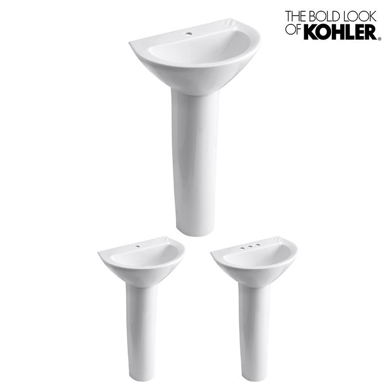 洗面ボウル【KOHLER】Parigi Pedestal/パリジ ペデスタルシンク 脚付洗面台 K-2175 (W502×D356×H835)